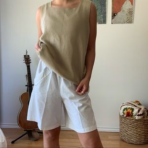 Vintage White Shorts with Buttons